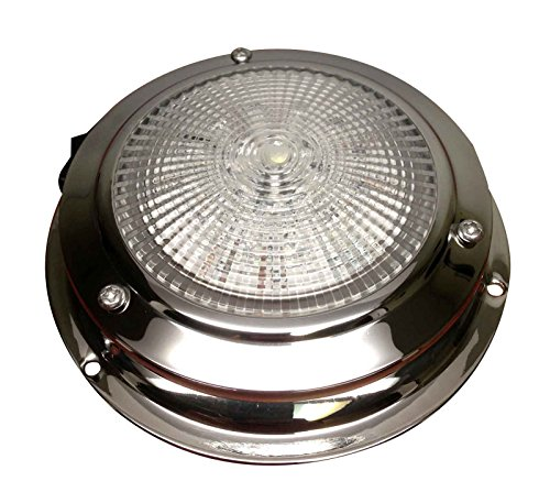 Marine Boat LED Dome Light Stainless Steel Beautiful Accent with Rocker Switch