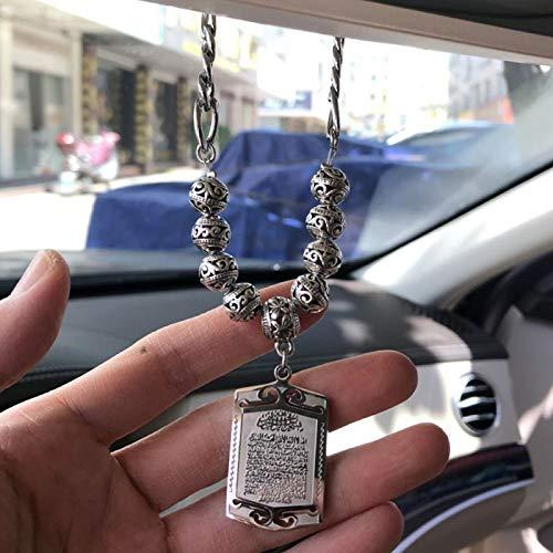 HFLON Allah Ayatul Kursi Car Rear View Mirror Pendant Islam Muslim Car Hanging Ornament Car Decoration Auto Accessories