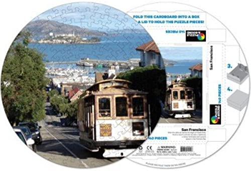 San Francisco Puzzle A-Round 140 piece Round Jigsaw Puzzle by Puzzle A-Round