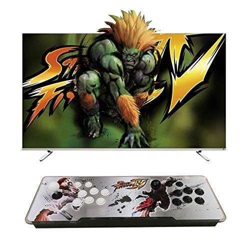 Sock Pandora Box 8000 Juegos Retro Consola Maquina Recreativa Arcade Video, 1280x720 Full HD con 2 Joystick Partes, para Pc/Laptop/TV/ Ps3