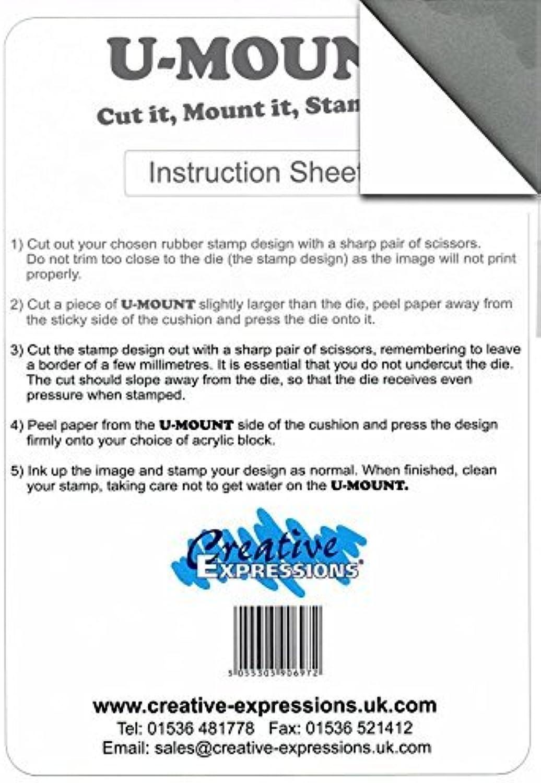 compras de moda online A4 Sheet of U-Mount Repositionable Mounting Mounting Mounting Foam for Unmounted Rubber Stamps by Creative Expressions  en promociones de estadios