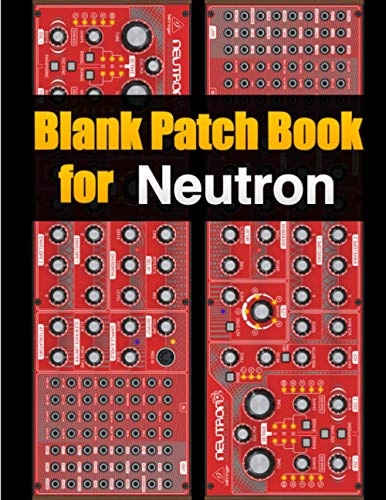 Blank Patch Book for Neutron : Blank Patch Sheets Notebook Behringer Neutron | 8,5