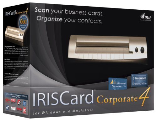 IRISCard Corporate 4 for Microsoft CRM 3.0 - 3 Site Licences Incl.