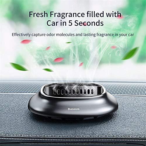 Ambientador de coche Aleación de la mini coche ambientador natural Fragancias Vent Soporte aromaterapia difusor de aire fresco (Nombre del color : Dark grey)