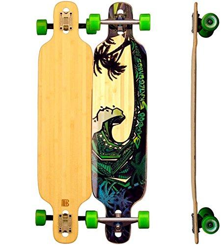 Bamboo Longboard Twin Tip DT Blue Giant Longboard