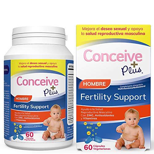 Conceive Plus Hombre Fertility Vitamins - Ayuda a la Salud Reproductiva Masculina Con ZINC, Maca, Selenio Antioxidantes y Vitaminas producción de esperma - 60 cápsulas vegetarianas