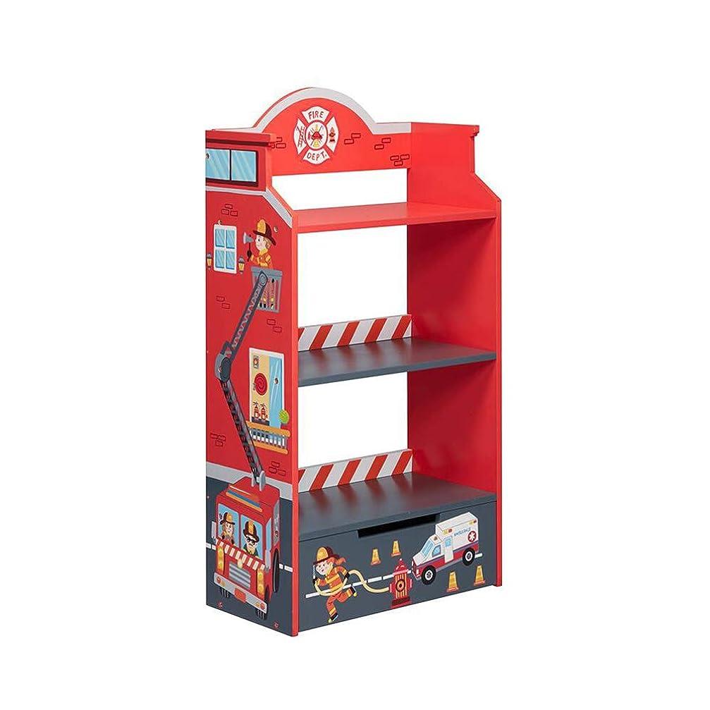 細心の砂威するQL 収納棚 子供の本棚3階、リビングルームディスプレイスタンド57x30x108cm、木製の収納棚 収納家具