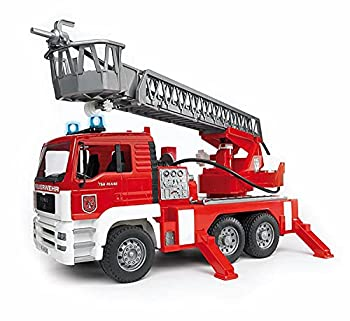 Bruder Toys - Emergency Realistic MAN Fire Engine with Water Pump and Light and Sound Module - Works with Water - Ages 4+