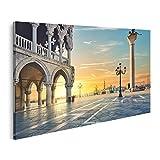 Bild Bilder auf Leinwand Sonnenuntergang Venedig