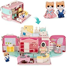 Best Choice Products Camper Van Playset Pretend Play Dollhouse Toy Gift Set with 54 Accessories and Tiny Critters for Kids