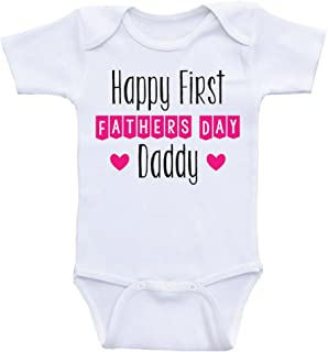 Father's Day Baby Onesies Happy First Father's Day Daddy One Piece Baby Clothes