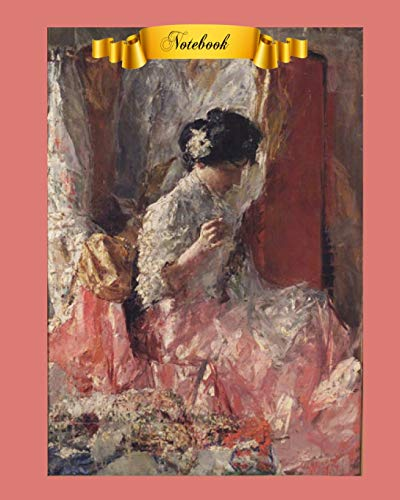 Notebook: Beautiful Women in Art Cover Notebook For Mom, 8 x 10, 130 Pages Lined Paper For Writing Notebook, Perfect for Journaling, Note Taking or Diary