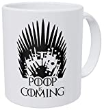 WuRen A Mug To Keep – Poop Is Coming - 11 Ounces Gift Coffee Mug – Funny Inspirational And Motivational