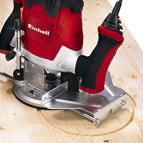 Einhell Défonceuse électrique TE-RO 1255 (1200 W, Longueur du câble d'alimentation : 3 m, Revêtement SoftGrip, Livré avec accessoires)