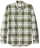Amazon Brand - Goodthreads Men's Standard-Fit Long-Sleeve Brushed Flannel Shirt, -olive plaid, XX-Large