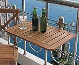 Spetebo Tavolino da Balcone in Legno di Teak, Dimensioni: 60 x 40 cm