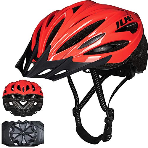 ILM Youth Adult Bike Helmet Bicycle Cycling Helmets Lightweight Quick Release Casco for Biking MTB (Red, Large/X-Large)