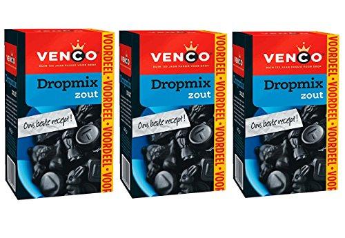 3 X Venco Dropmix Zout - Lakritz Salz - 490g