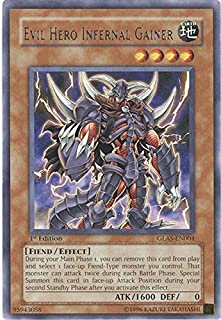 Yu-Gi-Oh! - Evil Hero Infernal Gainer (GLAS-EN004) - Gladiators Assault - Unlimited Edition - Rare