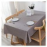 GANE Mantel rectangular de plástico PVC, a prueba de aceite y antiquemaduras, mesa de comedor, mesa de picnic, mantel a cuadros (color: D, tamaño: 90 x 140 cm)