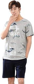 Men's Men's Pajamas Set Cotton Shorts and Top Comfortable Sizes Summer Lounge Short Sleeve Set Summer Comfortable Loungewe...