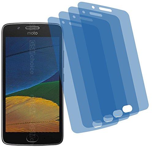 4ProTec I 4X GEHÄRTETE ANTIREFLEX matt 3D Touch Schutzfolie für Lenovo Moto G5 Displayschutzfolie Schutzhülle Bildschirmschutz Bildschirmfolie Folie