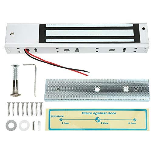 DC12V 280kg/617lb Cerradura magnética de puerta de madera impermeable montada en superficie sin luz indicadora, cerradura de puerta Cerradura magnética Cerradura magnética para el hogar