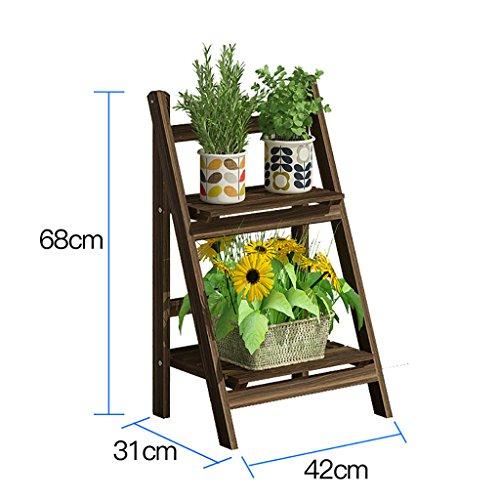 Porte-fleurs Présentoir en bois de fleur de plante en bois Étagère en bois de stockage Étagère extérieure de pot de fleur d'intérieur (sélection de taille multiple) porte plante ( taille : 68*31*42cm )