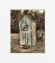 Rustic Vintage Outhouse Farmhouse Country Home Decor Wall Art Photography Matted 5x7, 8x10, 11x14 Artwork Picture