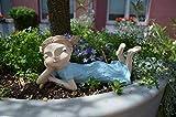 Kantenhocker Mädchen Lia liegend Outdoor Außendeko - Gartenfigur - Figur - Gartendeko - aus hochwertigem Polyresin - wetterfest und UV-beständig - Höhe ca. 25 cm