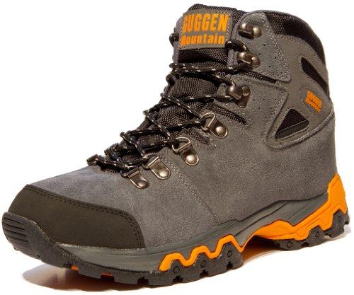 GUGGEN Mountain Bergschuhe Bergstiefel Wanderschuhe Wanderstiefel Mountain Boots Trekkingschuhe Unisex M008, Grau, EU 43