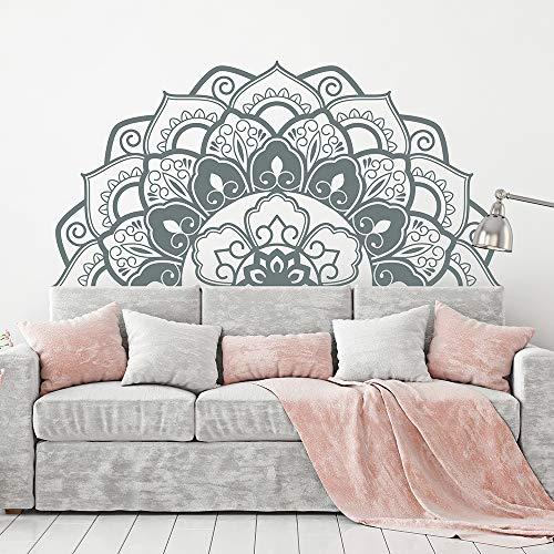 Ajcwhml Media Mandala Apliques cabecero Art Deco Estudio de Yoga Etiqueta de la Pared Dormitorio Principal decoración para el hogar 217 cm x 110 cm