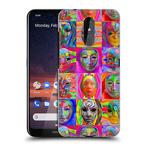 Officiële Howie Green Pop Art Maskers Carnaval Hard Back Case Compatibel voor Nokia 3.2
