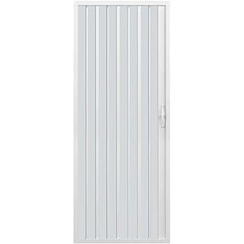 Rollplast BVEN2LONCC28090 Mampara de ducha con fuelle, tamaño H 90 cm x 185 cm, PVC, por un lado, única puerta, con apertura lateral, color blanco: Amazon.es: Bricolaje y herramientas