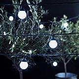 10er LED Party Lichterkette weiß 5m koppelbar PRO Serie Lights4fun