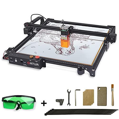 ORTUR Laser Master 2 Pro,Laser Engraver ,Laser Engraving Cutting Machine,DIY Laser Marking for Metal,Compresed Spot CNC,32-bit Motherboard LaserGRBL(LightBurn),Eye Protection Fixed-Focus,400×400mm