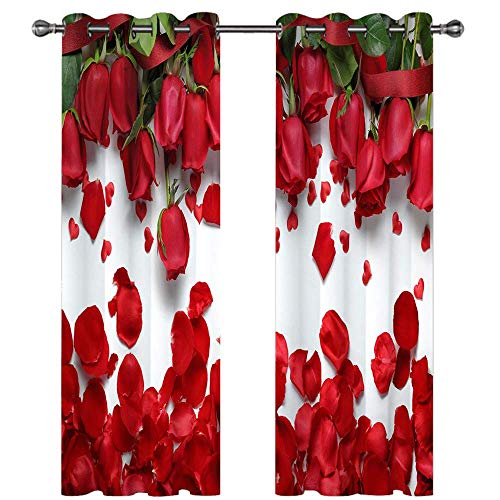 Michance 3D Blackout Printing Curtains Realistic Pattern Suitable For Bedroom, Kitchen, Balcony Curtains Effectively Protect Personal Privacy