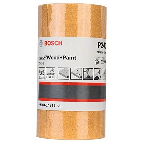Bosch Professional C470 Schleifwalze Farbe für Holz(93 mm, 5 m,Körnung 240)