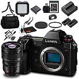 Panasonic Lumix DC-S1R Mirrorless Digital Camera (Body Only) - Bundle - with Panasonic S PRO 50mm f/1.4 Lens + Sony XQD 32GB Card + Panasonic DMW-BLJ31 Battery + LED Light + Soft Bag + More