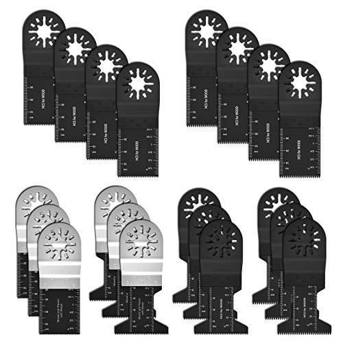 Scorpiuse1 マルチツール 替刃 20点セット ブレードカットソー マルチツール用 替刃 互換 日立 マキタ ボッシュ等多機種対応 木材釘金属切断 先端工具セット 鋸刃互換 電動工具アクセサリー メタル