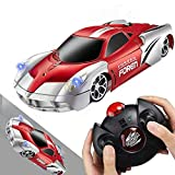 Wall Climbing Remote Control Car, RC Car Toy for Kids Rotating Stunt Racing Gift (Red)