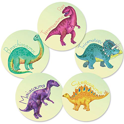 10 Pieces Potty Training Dinosaur Stickers Toilet Targets Stickers Color Changing Pee Targets for Boys Training Use with or Without Potty Training Charts 3.15 Inches Diameter