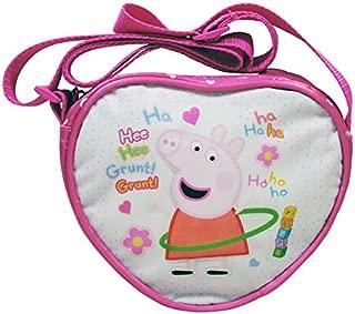 DISNEY Pink Peppa con clip Pig AROUND Ragazze Moneta Borsa Portafoglio