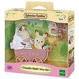 Sylvanian Families 5018 Schokoladenhasen Baby Zwillinge mit Kinderwagen, Figur, Mehrfarbig - Sylvanian Families