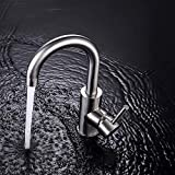 GAVAER Wasserhahn Bad, 360 ° Drehbar Bad Armatur, Edelstahl-Einhebelmischer Waschbecken Armaturen,...