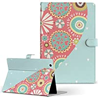 HUAWEI MediaPad M3 Huawei ファーウェイ メディアパッド タブレット 手帳型 タブレットケース タブレットカバー カバー レザー ケース 手帳タイプ フリップ ダイアリー 二つ折り ラブリー イラスト 花 フラワー ハート m3-008848-tb
