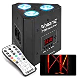 Beamz TP 36 Truss Par Uplight Scheinwerfer, 3x 4W 4in1 LEDs, RGB-UV Lichtmischung, 3, 4-1, 4 oder 8 DMX-Kanäle, DMX- und Standalone-Modus, Dimmer 0-100%, Master-/Slave-Funktion, LED-Anzeige