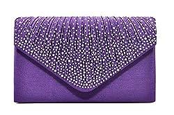 Envelope Type Evening Clutch Crossbody In Violet