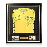exclusivememorabilia.com Maillot Amarillo Tour de Francia 2018 Firmado por Geraint Thomas. Enmarcado