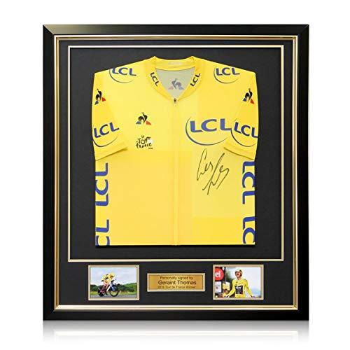 Tour de France 2018 gele trui gesigneerd door Geraint Thomas. Ingelijst